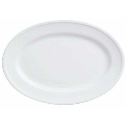 World Tableware Empire Alpine White Platter 12375 inch -- 12 per case