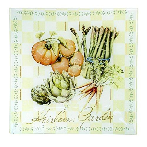 Pfaltzgraff Square Glass Vegetable Platter 11-12-Inch