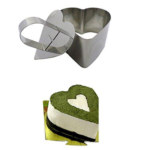 DIY Baking Tools Heart-shaped Cake Mold Stainless Steel Baking Tool Set