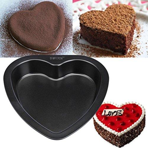 Fullfun 7-inch Heart-shaped Cake Mold Baking Pan Non Stick