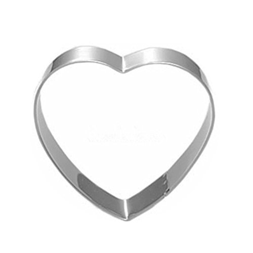 OUNONA Biscuit Cookie Cutter Stainless Steel Heart Shaped Cake Mold Baking Mould for Brithday Party Wedding decar
