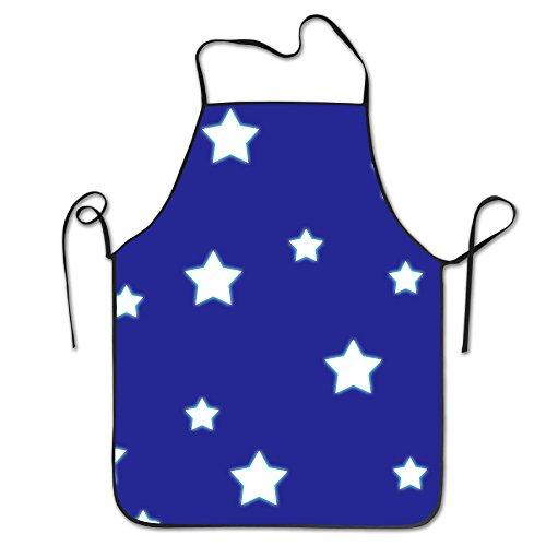 Blue Sky Star Novelty Baking Salon Apron 100 Polyester For Men Women