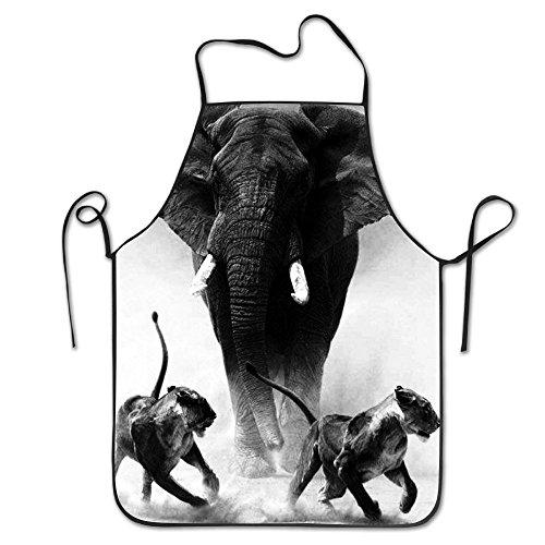 Elephant King Novelty Baking Salon Apron 100 Polyester For Men Women