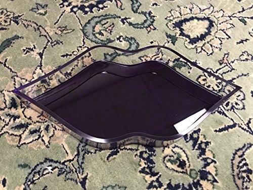 Acrylic Lip Shaped Tray by AREA Acrylic Decorative Tray Purple