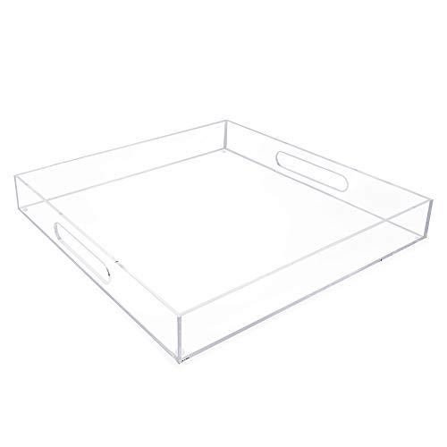 Isaac Jacobs Acrylic Tray 15x15 Clear