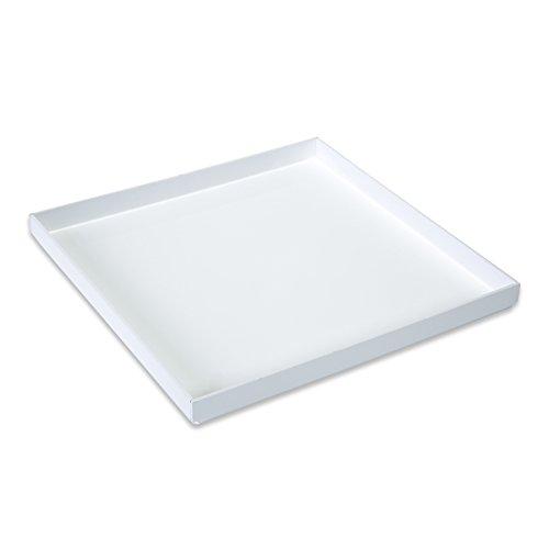 Mirart Colored Acrylic Tray 12 x 12 White