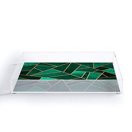Society6 Elisabeth Fredriksson Emerald and Copper Acrylic Tray 8x 625 Green