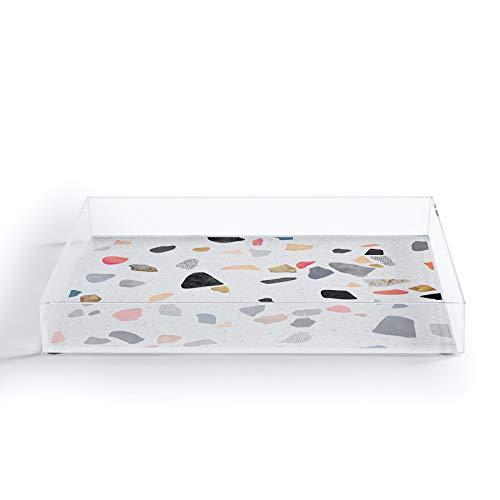 Society6 Elisabeth Fredriksson Terrazzo Treasure Acrylic Tray 8x 625 Multi