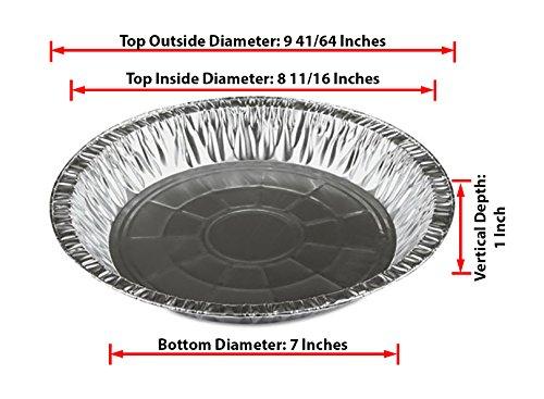Katgely 10 Inch Deep Aluminum Pie Pan Pack of 20