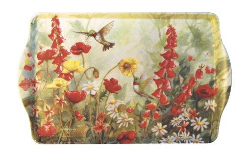 15 Hummingbird Garden Melamine Handled Serving Tray