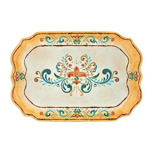 Supreme Housewares 485 Gourmet Art Tuscany Melamine 20-inch Rectangle Tray Yellow