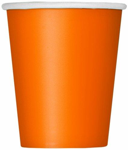 9oz Orange Paper Cups 14ct