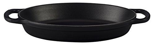 Le Creuset LS2088-2420 Signature Oval Baker Matte 1 quart Black