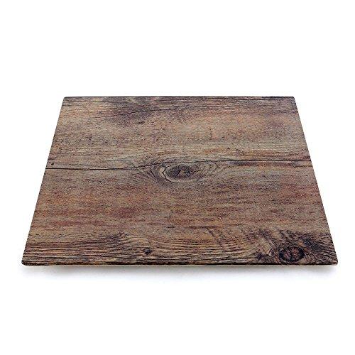 Elite Melamine Faux Wood Platter 10 Square
