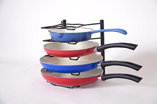 Bahoki Essentials Bronze Pan Organizer Rack Fits 5 Pans
