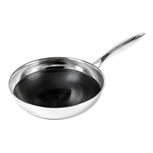 Frieling USA Black Cube Hybrid StainlessNonstick Cookware Chefs Pan 9 12-Inch Diameter 25 Quart