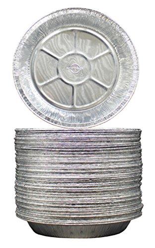 9 Aluminum Foil PieTart Pans Freezer Oven Safe Disposable Aluminum Tin Foil- For Baking Cooking Storage Reheating - Pack of 50 - By MontoPack