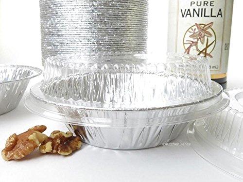 Disposable Aluminum 5 Tart Panindividual Pot Pie Pan w Clear Dome Lid 501P 25