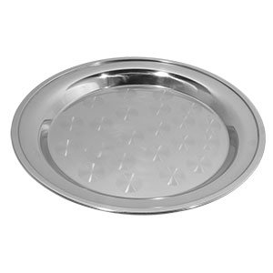 Tablecraft CTX18R 18 Round Stainless Steel Serving Tray