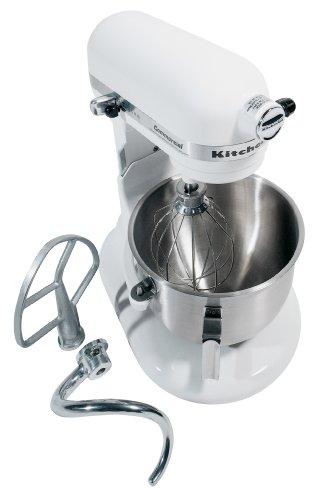 KitchenAid KM25G0XWH Commercial Series 5-Quart Stand Mixer White