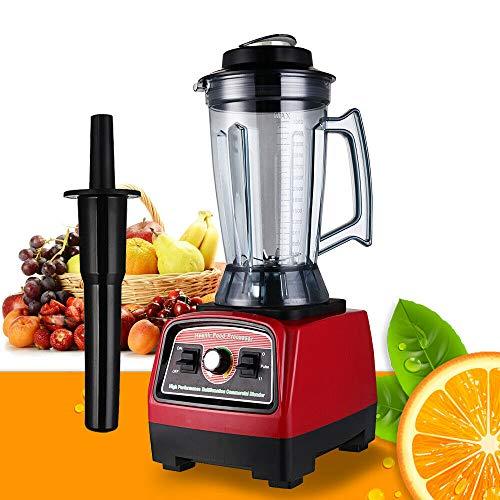 2800W Heavy Duty Countertop Blender Mixer Juicer Fruit Vegetable Ice Mixer Fresh Drink Blender Food Processor Machine 57000-peak 39L Capacity Home Kitchen Household Appliance