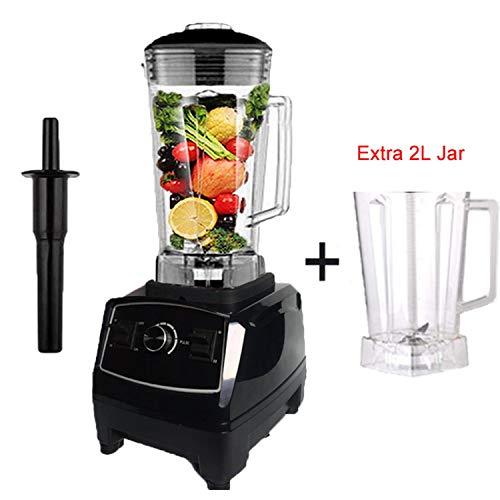 EuUs Plug 2200W Commercial Blender Mixer Juicer Power Food Processor Smoothie Bar Fruit Electric BlenderBlack Extra JarRussian FederationUk Plug