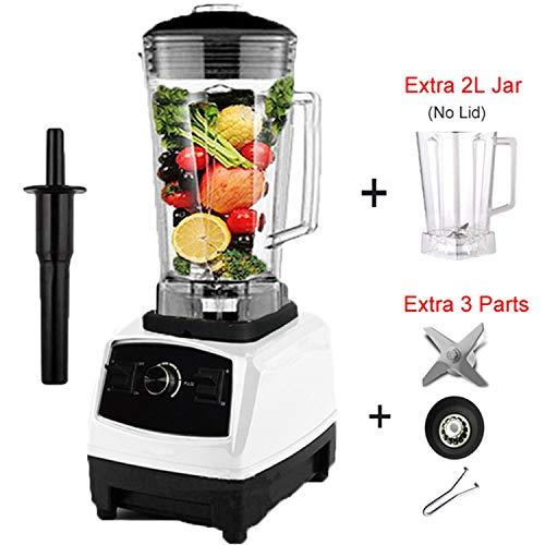 EuUs Plug 2200W Commercial Blender Mixer Juicer Power Food Processor Smoothie Bar Fruit Electric BlenderWhite Jar FullpartsRussian FederationEu Plug