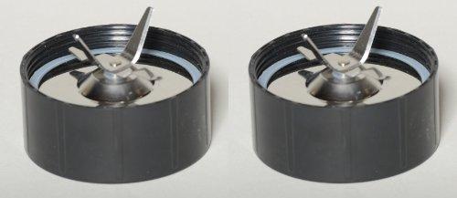 SET of 2 Stainless Steel Magic Bullet Blender Mixer Juicer Replacement Cross Blade