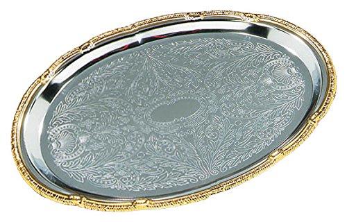 Carlisle 608913 - 1775 Celebration Oval Tray with Gold Border