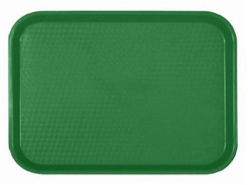 FAST FOOD SERVING TRAYS SET OF 12 DOZEN PLASTIC  CAFETERIA  RESTAURANT Green 14 X 17 34