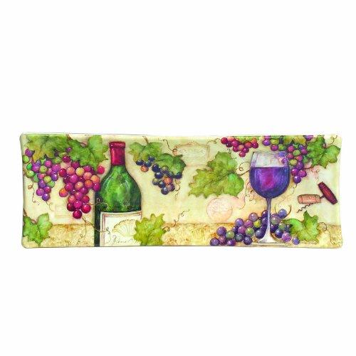 Keller-Charles Pinot Ribbed Rectangular Platter
