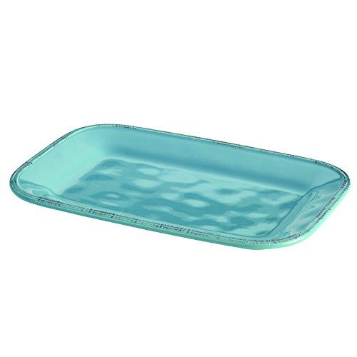 Rachael Ray Cucina Dinnerware Stoneware Rectangular Platter 8-Inch by 12-Inch Agave Blue