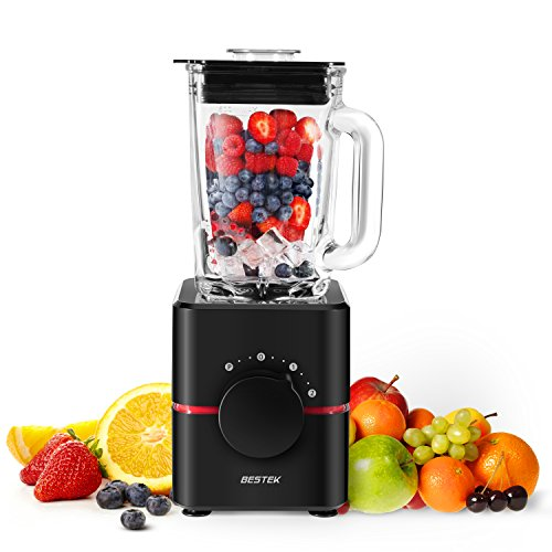 Blender with Glass Jar by BESTEK- UL Certified BPA Free 550 Watts Smoothie Blender 2-Speed Function Professional Food Processor MixerMulti-functional 15LBlack