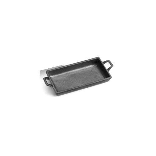 Tomlinson 1023655 Cast Iron 12 Oz Rectangular Sizzle Platter - 12  CS