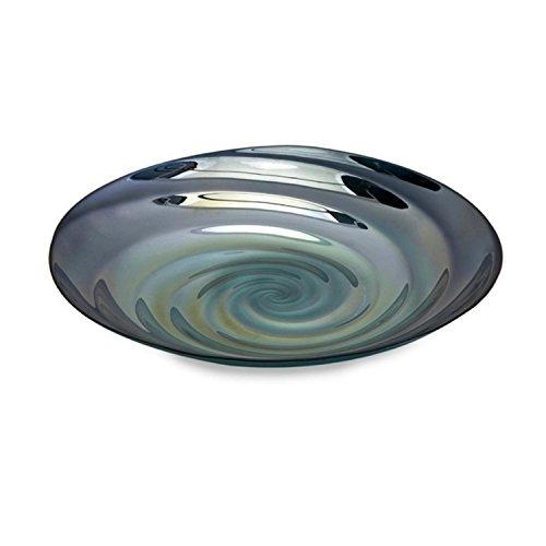 175 Decorative Pond Ripple Blue Swirl Food Safe Glass Serving Dish