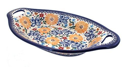 Polish Pottery Butterfly Bread Platter