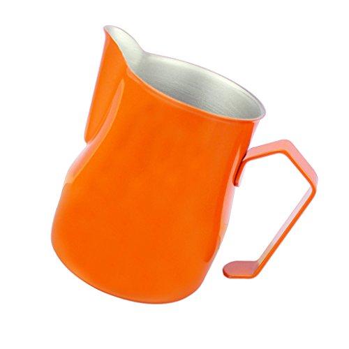 Jili Online Milk Frothing Pitcher for Espresso Machines Milk Cup Baristas Latte Art - Orange 700ml