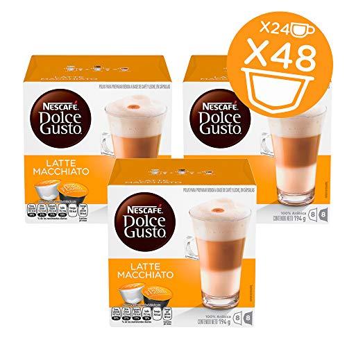 NESCAFÉ Dolce Gusto Coffee Capsules  Latte Macchiato  48 Single Serve Pods Makes 24 Specialty Cups 48 Count