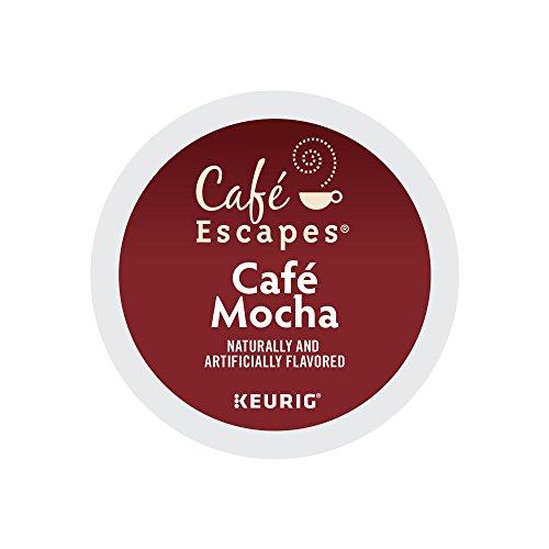Cafe Escapes Cafe Mocha Keurig K-Cups 12 Count Pack of 6