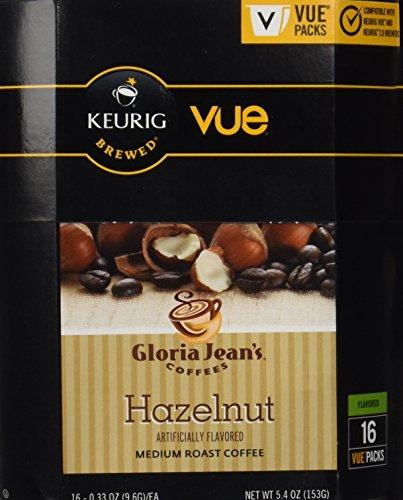 Gloria Jeans Hazelnut Coffee Keurig Vue Portion Pack 32 Count