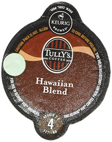 Tullys Hawaiian Blend Coffee Keurig Vue Portion Packs 32 Count