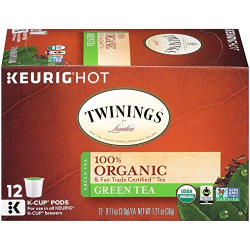 Twinings Organic Pure Green Tea Keurig K-Cups 12 Count Packaging May Vary