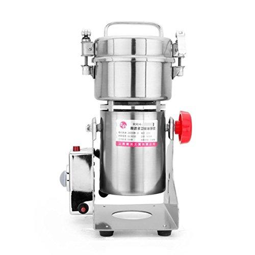 RRH 200g Stainless Steel Powder Machine 25000 RPM Electric Coffee Herb Mill Corn 1400W Grain Grinder 50-300 Mesh