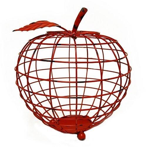 New View Red Wire Apple Cork Catcher Wine Decor