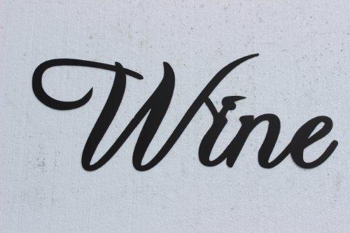 Wine Word Medium Size Metal Wall Art Kitchen Home Decor