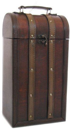 Bella Vita Medieval Treasure Wooden 2-Bottle Wine Box