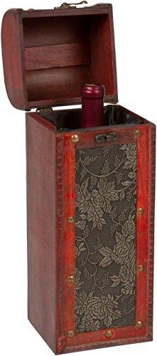 Trademark Innovations Treasure Chest Wine Box Brown