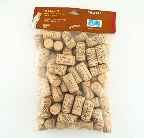 72 Bellcork 9 Long 45 X 24 mm Winery Grade Natural Cork Stopper