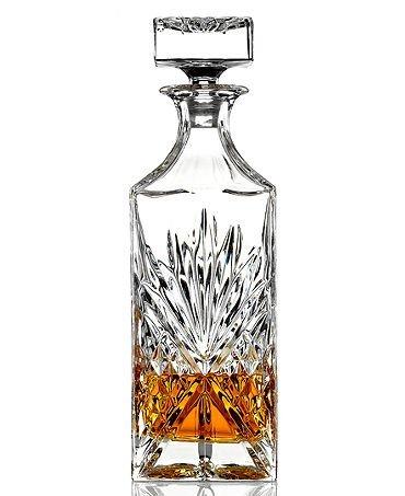 James Scott Crystal Liquor Whiskey and Wine Decanter Irish Cut 1 Piece 750ml