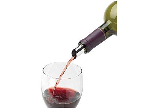Caseqa No Drip Wine Pourer Set of 10 Wine Disc Pour Spouts Reusable - Silver